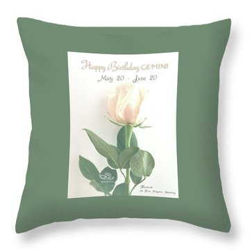 Happy Birthday Gemini Throw Pillow