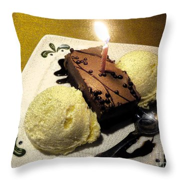Throw Pillow featuring the photograph Happy Birthday Wish by Janelle Dey