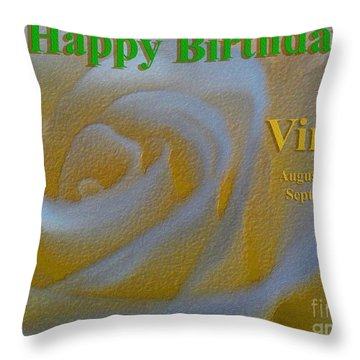 Throw Pillow featuring the photograph Happy Birthday Virgo by Beauty For God