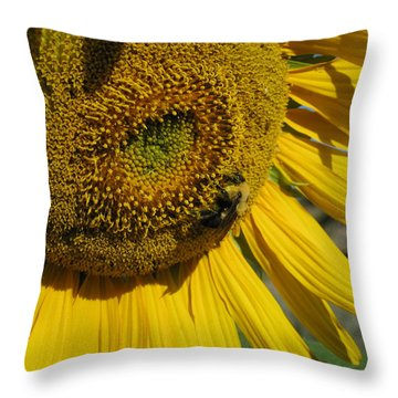 Happy Bumble Bee Throw Pillow