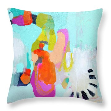 Happy Came To Visit Me Throw Pillow