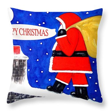 Happy Christmas 12 Throw Pillow by Patrick J Murphy