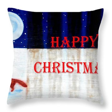 Happy Christmas 28 Throw Pillow by Patrick J Murphy