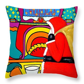 Happy Christmas 30 Throw Pillow by Patrick J Murphy