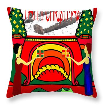 Happy Christmas 32 Throw Pillow by Patrick J Murphy