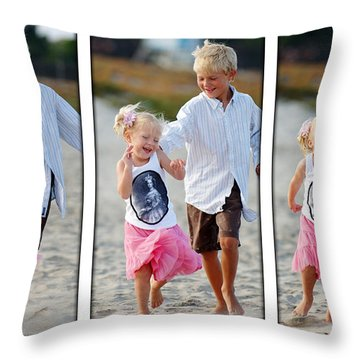 Happy Contest 15 Throw Pillow by Jill Reger