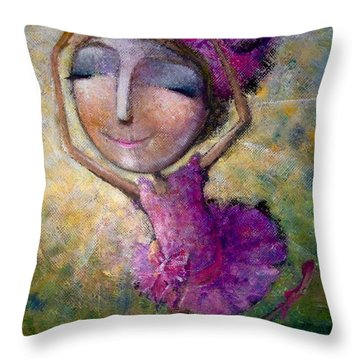Happy Dance Throw Pillow by Eleatta Diver