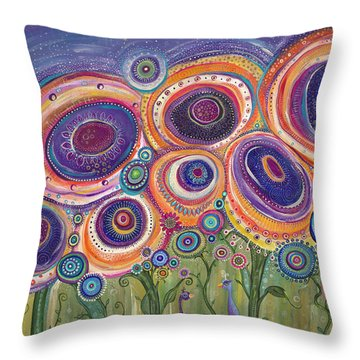 Happy Dance Throw Pillow by Tanielle Childers