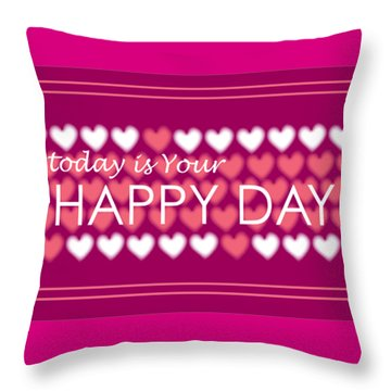 Happy Day Throw Pillow by Hye Ja Billie