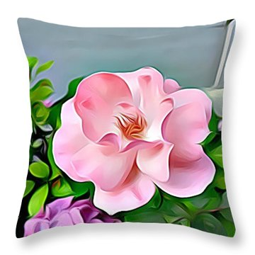 Throw Pillow featuring the digital art Happy Day by Lucia Sirna
