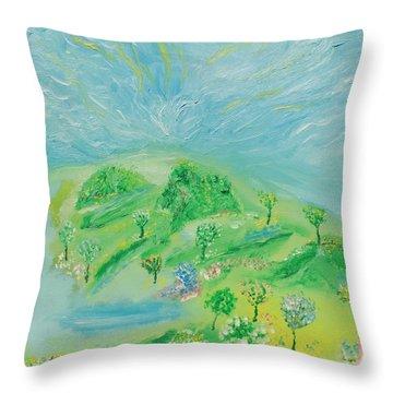 Happy Days. Landscape Throw Pillow