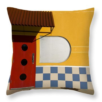 Happy Days Throw Pillow by Skip Hunt