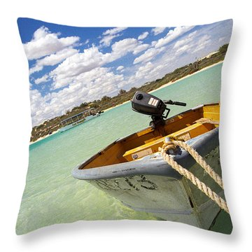 Throw Pillow featuring the photograph Happy Dinghy by T Brian Jones