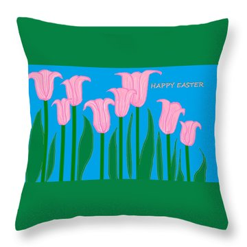 Happy Easter 1 Throw Pillow
