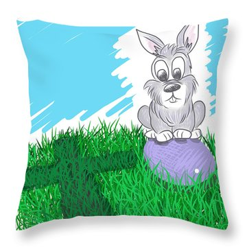 Throw Pillow featuring the digital art Happy Easter by Antonio Romero