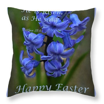 Throw Pillow featuring the photograph Happy Easter Hyacinth by Ann Bridges