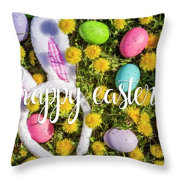 Throw Pillow featuring the photograph Happy Easter by Teri Virbickis