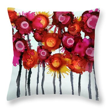 Alcohol Ink Throw Pillows