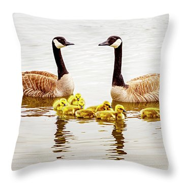 Throw Pillow featuring the photograph Happy Family by David Millenheft
