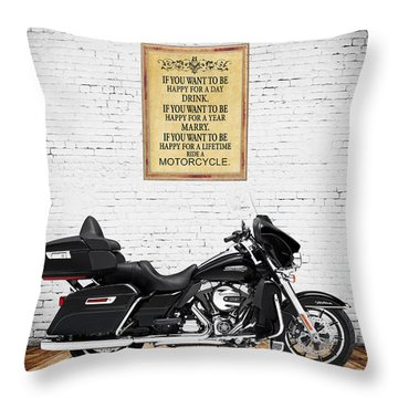 Happy For A Day Throw Pillow
