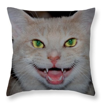 Happy For Spring Cat Throw Pillow