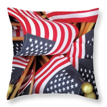 Happy Fourth Of July 2017 Throw Pillow
