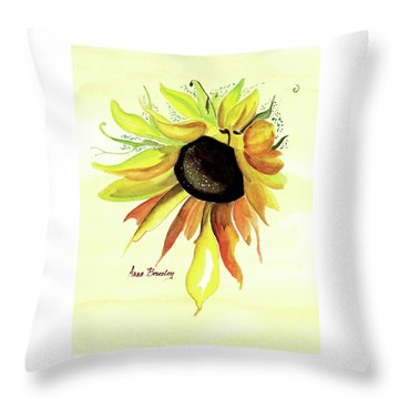 Throw Pillow featuring the painting Happy Friday by Anne Beverley-Stamps