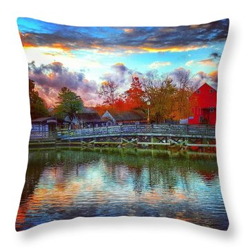Reflections At Smithville Throw Pillow