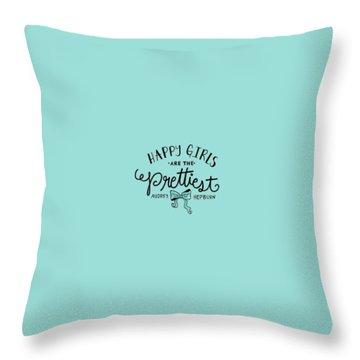 Happy Girls  Throw Pillow by Elizabeth Taylor