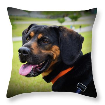 Happy Gus Throw Pillow