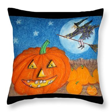 Happy Halloween Boo You Throw Pillow