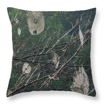 Happy Halloween Throw Pillow by Deborah Dendler