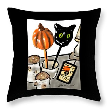 Happy Halloween Throw Pillow by Jean Pacheco Ravinski