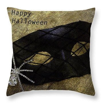 Throw Pillow featuring the photograph Happy Halloween by Patrice Zinck