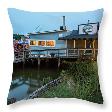 Happy Harbor Throw Pillow