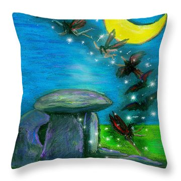Happy Haunting Throw Pillow
