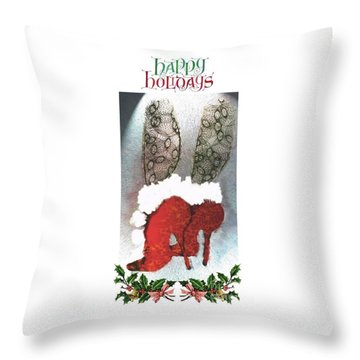 Happy Holidays - Christmas Card Throw Pillow