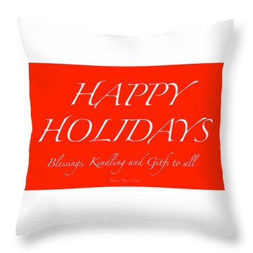 Happy Holidays - Day 1 Throw Pillow