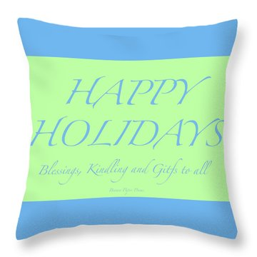 Happy Holidays - Day 4 Throw Pillow