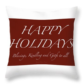 Happy Holidays - Day 6 Throw Pillow