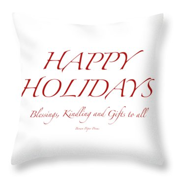 Happy Holidays - Day 8 Throw Pillow