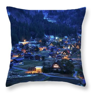 Throw Pillow featuring the photograph Happy Holidays From Japan by Peter Thoeny
