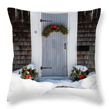 Throw Pillow featuring the photograph Happy Holidays by Michelle Wiarda