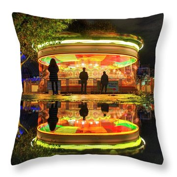 Throw Pillow featuring the photograph Happy Holidays by Quality HDR Photography