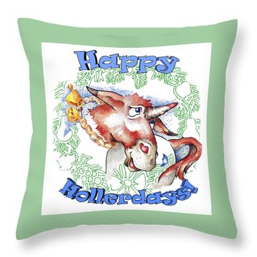 Real Fake News Happy Hollerdays Throw Pillow