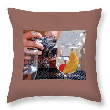 Happy Hour @ Mpbts Throw Pillow