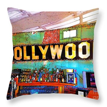 Throw Pillow featuring the photograph Happy Hour At The Hollywood Cafe by T Lowry Wilson