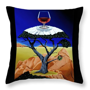 Happy Hour At The Midreal Cypress Throw Pillow