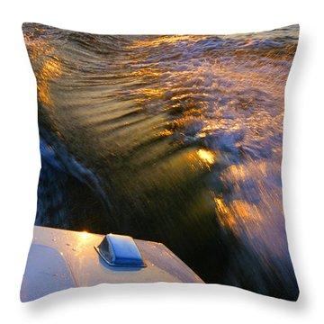 Happy Hour - Lake Geneva Wisconsin Throw Pillow