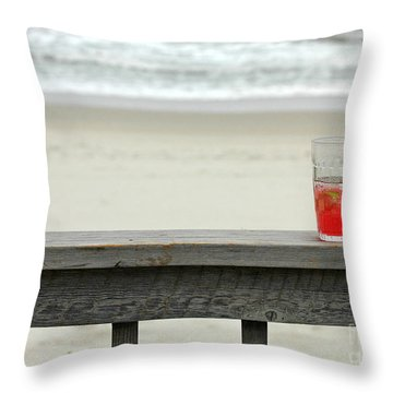 Happy Hour Throw Pillow by Sami Martin